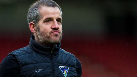 Dunfermline Athletic manager Stevie Crawford