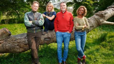 Springwatch presenters Chris Packham, Michaela Strachan, Gillian Burke and Iolo Williams