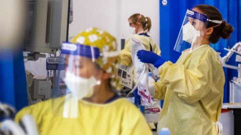 Medical professionals in PPE