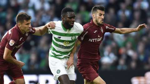 Odsonne Edouard in action for Celtic against Cluj