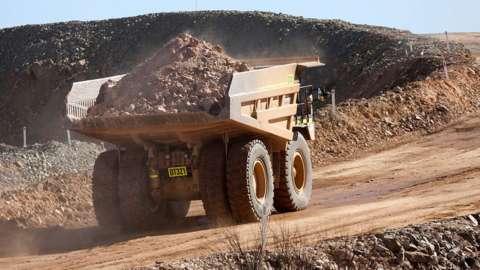 Mining truck in Western Australia