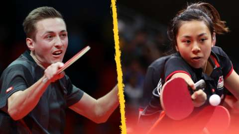 Liam Pitchford (right) and Tin-Tin Ho (left) have been selected for Team GB's table tennis team at the Tokyo Olympics