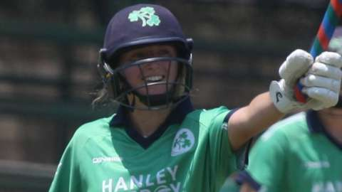 Leah Paul acknowledges the applause after reaching her half century in Harare on Thursday