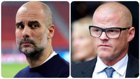 Pep Guardiola and Heston Blumenthal