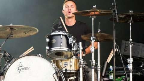 Dan Flint playing drums