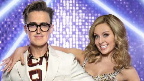 Tom Fletcher and his dance partner, Amy Dowden