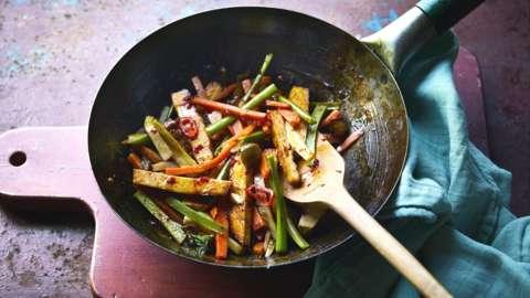 Leftover stir fry
