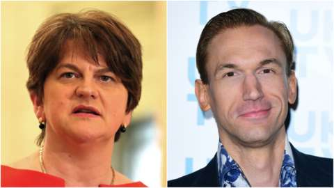 Arlene Foster and Christian Jessen