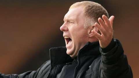 Salford City interim manager Paul Scholes