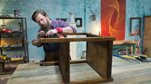 Rob Fawcett transforming an old table