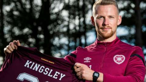 Hearts left-back Stephen Kingsley