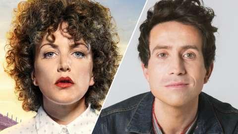 Split image of Annie Mac and Nick Grimshaw