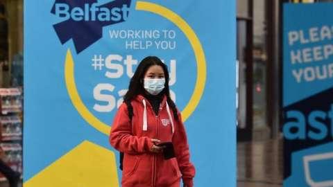 Woman in Belfast street