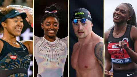 Naomi Osaka, Simone Biles, Adam Peaty and Dina Asher Smith