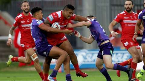 Albert Vete was one of Hull KR's five try scorers in their win over Wigan