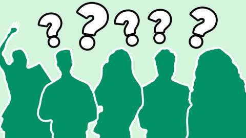 Silhouette's of mystery celebrities
