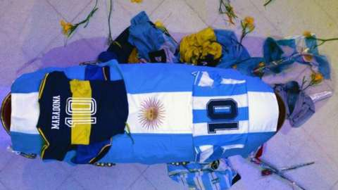 Maradona Coffin