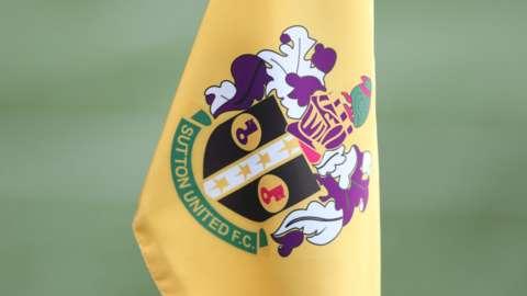 A corner flag at Sutton United's Gander Green Lane