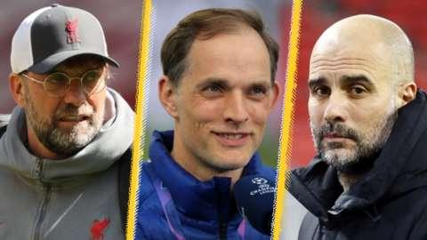 Jurgen Klopp, Thomas Tuchel and Pep Guardiola