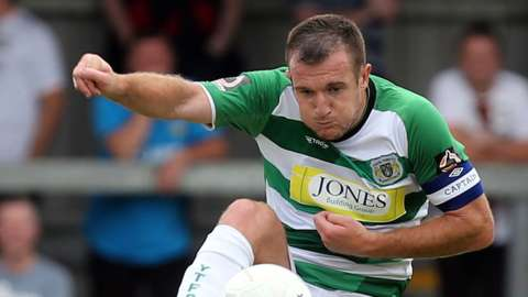 Lee Collins of Yeovil Town during Barnet vs Yeovil Town, Motorama National League Football at the Hive Stadium on 3rd August 2019