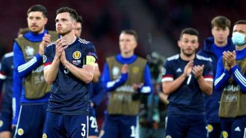Scotland squad at full-time