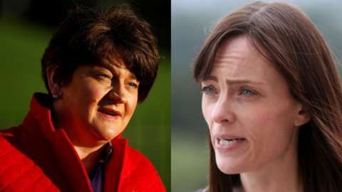 Arlene Foster and Nichola Mallon