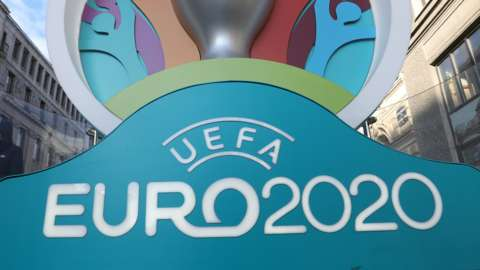 A sign saying Euro 2020