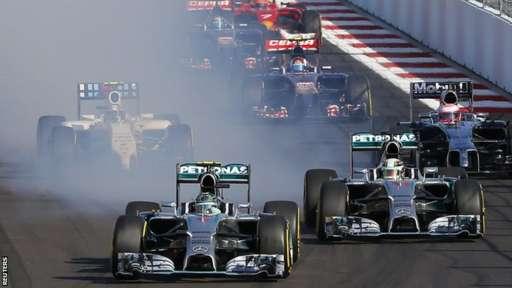 Russian GP first corner