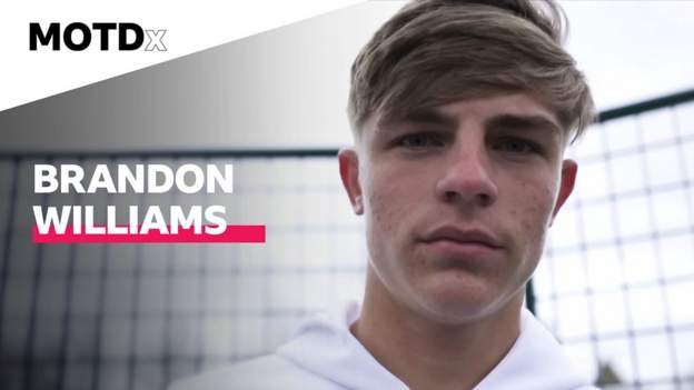 Manchester United's Brandon Williams shows MOTDx where he grew up thumbnail