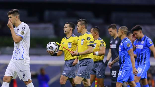 Cruz Azul v Monterrey: Players in Mexico sent inside after homophobic chants heard from some fans