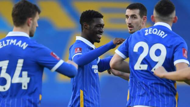 Brighton 2-1 Blackpool: Bissouma stunner helps hosts progress in FA Cup - bbc