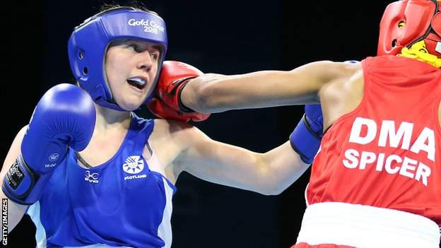 Vicky Glover fought for Scotland at the 2018 Commonwealth Games
