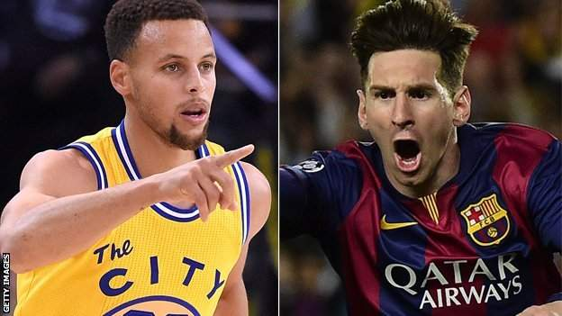 Steph Curry and Lionel Messi