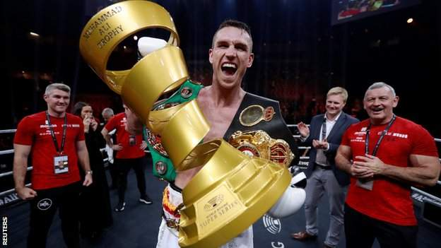 Callum Smith takes home the Muhammad Ali Trophy for claiming the World Boxing Super Series