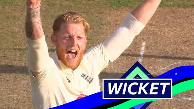 He's back! Stokes takes Rizman wicket eight balls into bowling return
