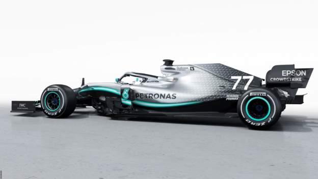 The Mercedes-AMG F1 W10 EQ Power+ car