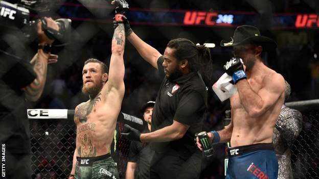 Conor McGregor declared winner of his fight with Donald 'Cowboy' Cerrone in January
