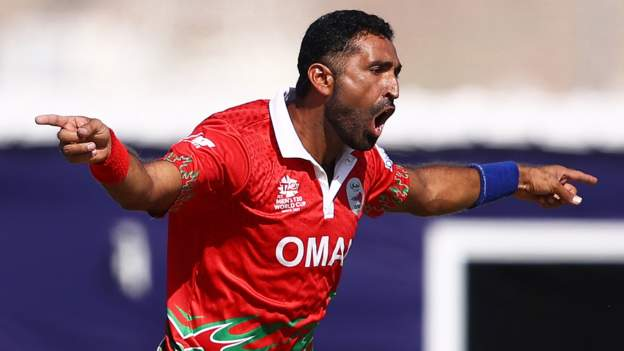 Oman thrash PNG in T20 World Cup