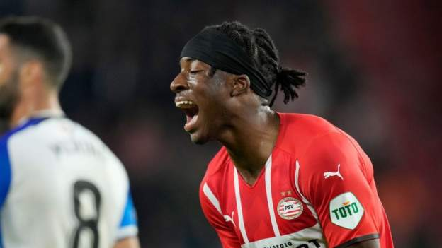 Noni Madueke: The English teenager who rejected English giants to star for PSV Eindhoven