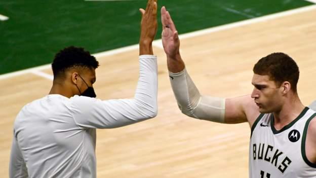 NBA play-offs: Milwaukee Bucks beat Atlanta Hawks to take 3-2 series lead
