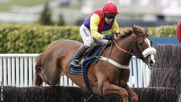Richard Johnson on Native River in the 2018 Gold Cup