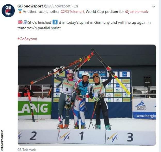 GB Snowsport tweeted their congratulations to Taylor