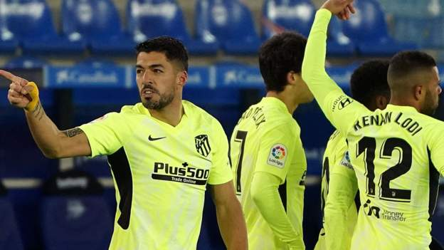 Alaves 1-2 Atletico Madrid: Luis Suarez helps visitors take two-point lead - BBC Sport