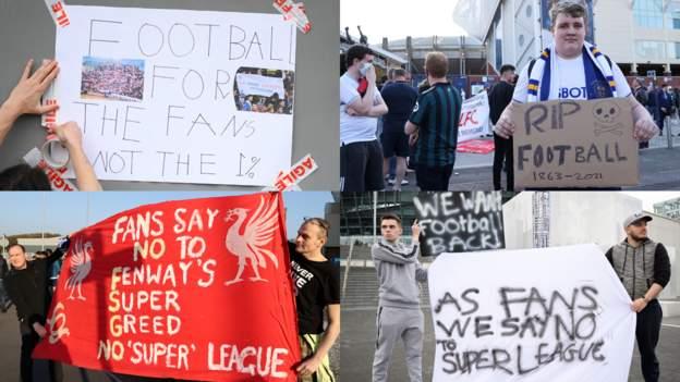 European Super League crumbles - how social media reacted - bbc