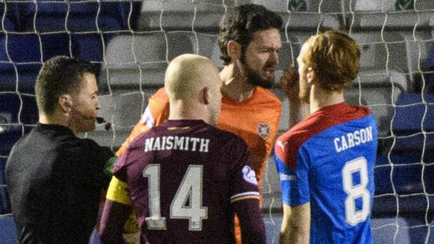 Hearts held by Inverness CT
