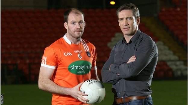 Armagh's Ciaran McKeever and Kieran McGeeney
