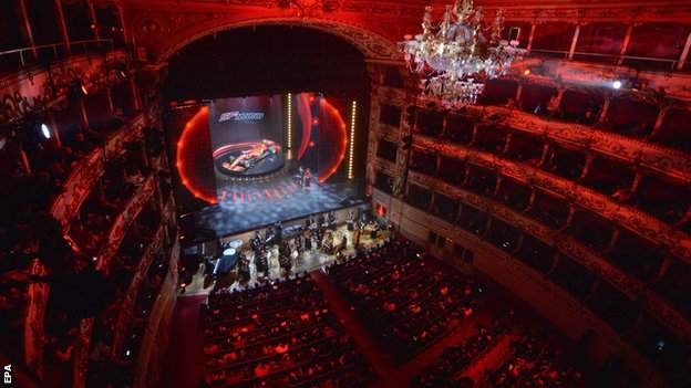 Ferrari launched their 2020 car in the Teatro Romolo Valli