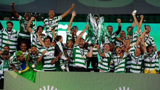 Sporting Lisbon 1-0 Boavista: Sporting victory seals their first Portuguese league title since 2002 - bbc
