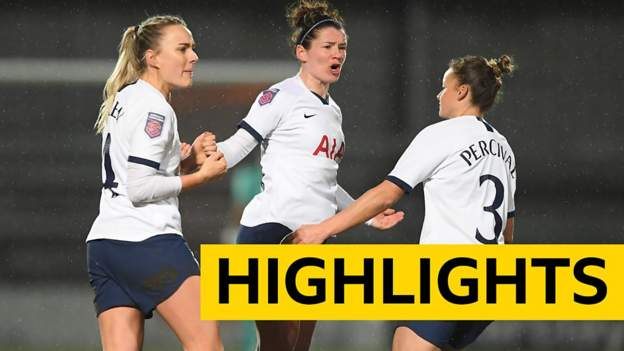 WSL: Tottenham 2-2 Everton highlights thumbnail