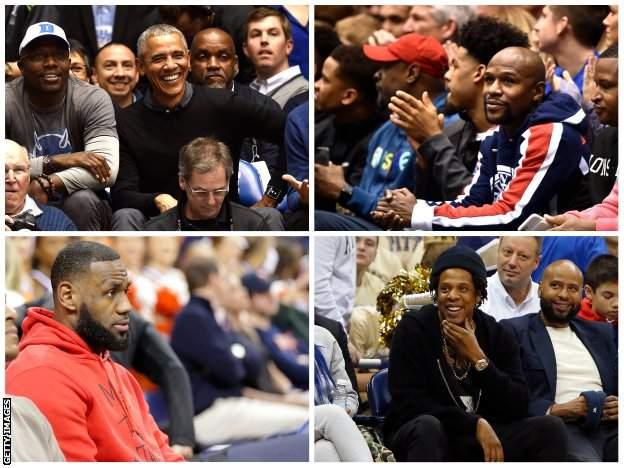 Barack Obama, Floyd Mayweather, LeBron James and Jay Z